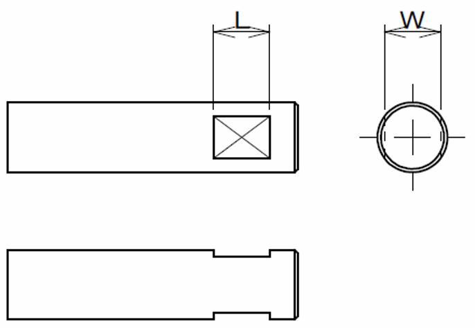 スパナ用に使われるシャフトの二面幅の規格・公差寸法表