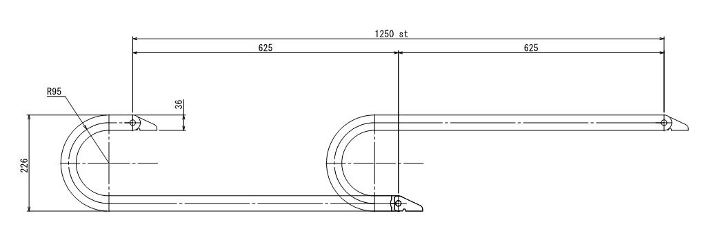 ケーブルベアの長さ・リンク数・キリの良い設置寸法の決め方1