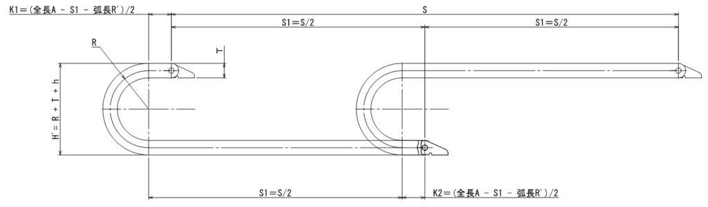 ケーブルベアの長さ・リンク数・キリの良い設置寸法の決め方2